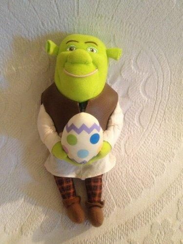 """Rare 12"""" Shrek 2003 Plush Stuffed Easter Egg Ogre TALKS"""