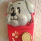 Rare Vintage Tonka Pound Puppies Red Music Box Row Your Boat Puppy