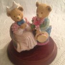Dept. 56 Kitty & Binkie Springtime Romance Upstairs Downstairs Bears Figurine