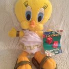 "9"" 1999 Looney Tunes Tweety Bird Las Vegas Roman Toga Bean Bag Plush W/ Tag"