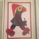 Rare Set 10 Blank Christmas Cards Parrot's Nib Jim Snapper Parrot W/ SnowShoes