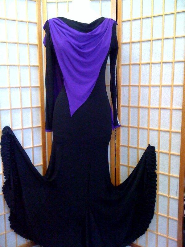 Black practice  ballroom dance dress