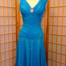 Blue latin dance dress