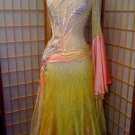 yellow and pink ball gown for dance competitions