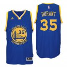 Kevin Durant Golden State Warriors 35 Blue Swingman Adidas NBA Jersey Size 44 (S)