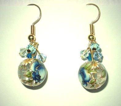 Oriental Blue Earrings
