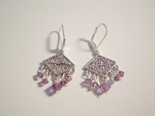 Purple Rain Swarovski dangle earrings