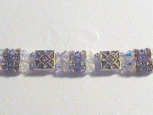Purple Swarovski double strand bracelet