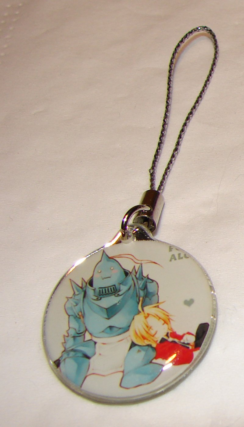 Full Metal Alchemist Cell Phone Charm - Ed & Al