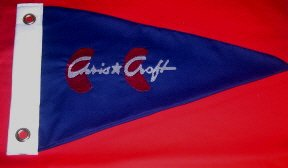 Custom Cotton Post War Chris Craft Boat Burgee Flag