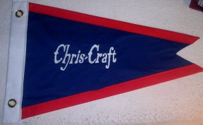 Custom Cotton Pre War Chris Craft Boat Burgee Flag