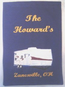 Personalized RV Travel Trailer Garden Flag