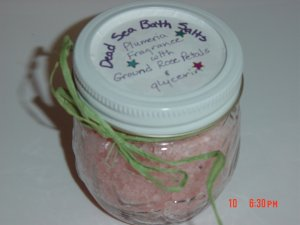 PLUMARIA SEA SALT BATH SALT - 8OZ. JAR