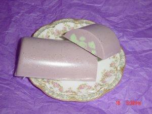 BLACKBERRY SAGE SWIRL Handmade Soap - 3 OZ. CRESCENT BAR