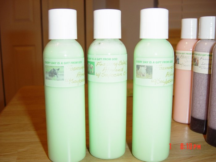 ALMOND FOAMING BATH OIL - 4 oz. Bottle