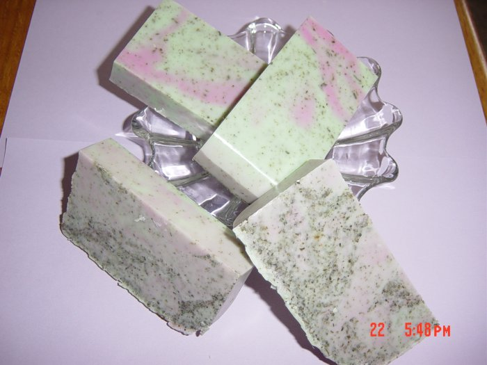 PEPPERMINT TEA Handmade Soap - 4 oz. big bar