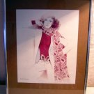 Gloria Eriksen 70s mod fashion plate Michelle framed AL1144