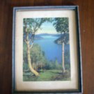 View from Malahat Drive Standard Oil Co See the West print series framed vintage AL1262