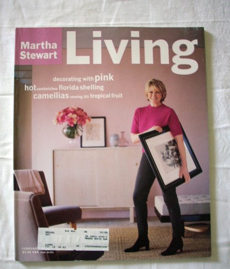 Martha Stewart Living magazine February 1997 pink shells camillias AL1279