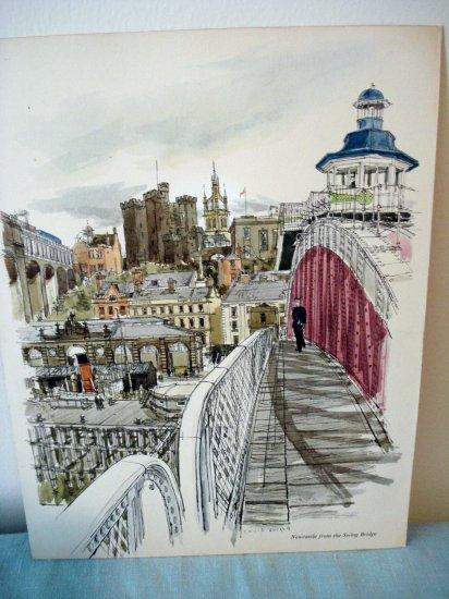 David Knight print Newcastle from the Swing Bridge Proctor Gamble Ltd 1963 AL1305