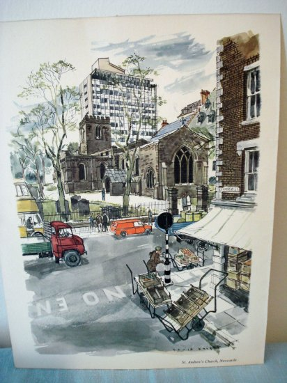 David Knight print St. Andrew's Church, Newcastle Proctor Gamble Ltd. 1964 AL1306