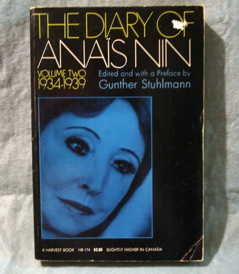 The Diary of Anais Nin Volume 2 Stuhlmann editor PB AL1418