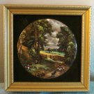 Corn Field by Constable Harleigh China Staffordshire Ceramic framed miniature picture AL1439
