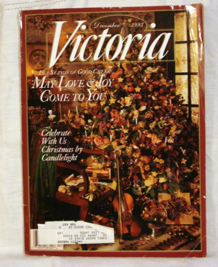 Victoria magazine back issue December 1993 Christmas by candlelight issue AL1533
