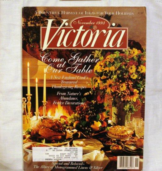 Victoria magazine back issue November 1993 Bountiful Harvest issue AL1534