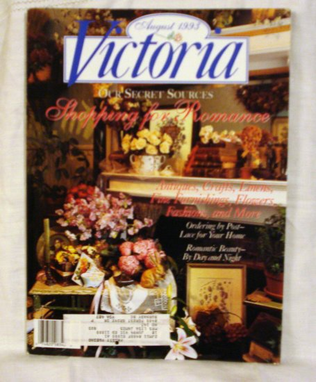 Victoria magazine back issue August 1993 shopping for romance issue AL1535