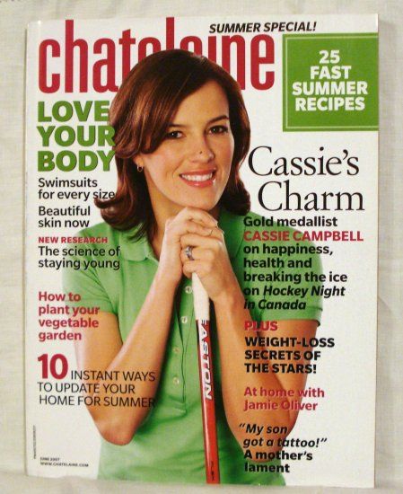 Chatelaine Magazine June 2007 Jamie Oliver Love your body AL1543