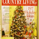 Country Living December 2005 back issue magazine decorate give celebrate AL1629