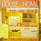 Canadian House and Home April 2004 back issue magazine Refresh Renew Redecorate Spring AL1654