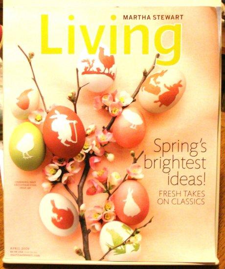 Martha Stewart Living magazine April 2009 Springs brightest ideas AL1804