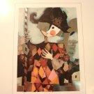 Rosina Wachtmeister framed print Harlequin silver foil edition signed AL1836