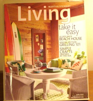 Martha Stewart Living magazine June 2009 beach house grilling sea crafts AL1841