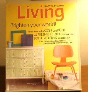 Martha Stewart Living magazine May 2009 Dazzle with paint AL1844
