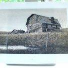 Len Gibbs lithograph abandoned log cabin derelict building AL1481