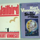 Kurt Vonnegut, Jr. 2 books Jailbird, The Sirens of Titan PB used  AL1493