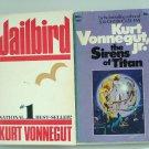 Kurt Vonnegut, Jr. 2 books Jailbird, The Sirens of Titan PB used  AL1493