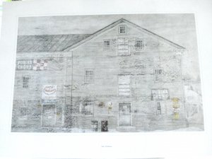 Sally Wildman Purina Chows abandoned feed store warehouse lithograph AL1494