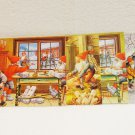 4 Swedish postcards elves Santa's Helpers gnomes artwork of Lars Carlsson and Erik Forsman AL1513