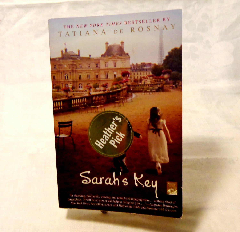 Sarah's Key paperback by Tatiana de Rosnay WWII historical fiction AL1543
