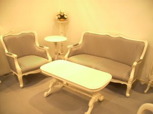 French Colonial 2 Seater + 1 Seater Sofa with Free Coffee Table Bundle