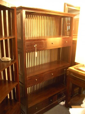 Bali Living Big Book Shelves with 9 drawers
