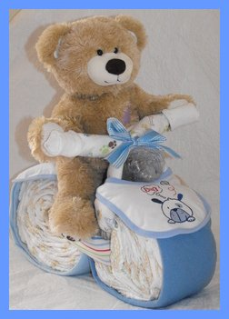 How to Make a Motorcycle Diaper Cake