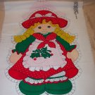 CHRISTMAS DOLL PANEL FROM SPRING MILLS LATE 1970'S
