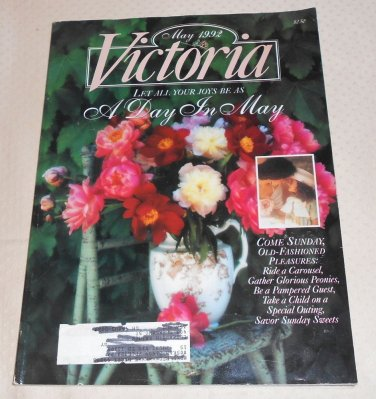 VICTORIA MAGAZINE VINTAGE MAY 1992