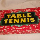 TABLE TENNIS VINTAGE WITH PINGPONG BALLS MADE IN ENGLAND MILTON BRADLEY 40's /50