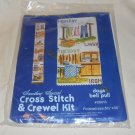 "CROSS STITCH & CREWEL KIT DAYS BELL PULL 5 1/2""X 35"" FULL COLOR DESIGN 1978"